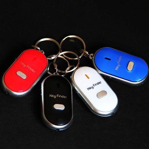 Whistle Key Finder LED Flashing Beeping Find Lost Keys Locator Remote Key Chain