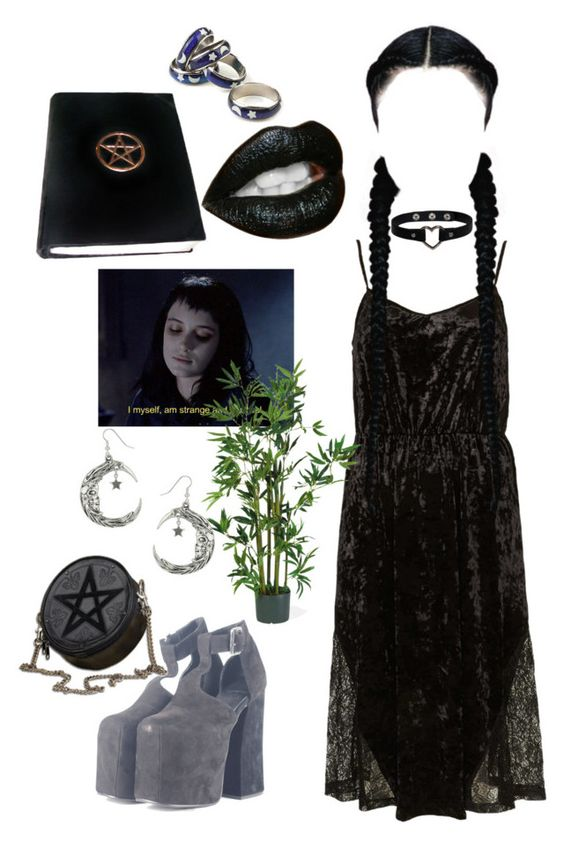 WITCH by kawaii-senpai on Polyvore featuring mode, Topshop, UNIF, Nearly Natural and Anello