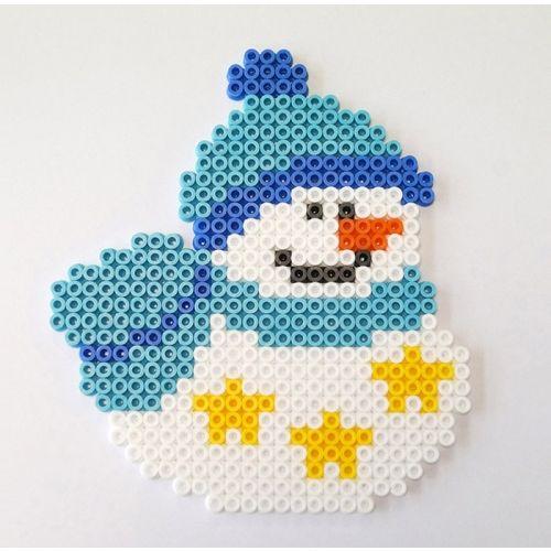 perles midi et plus encore perles hama noël atelier bonhomme de neige