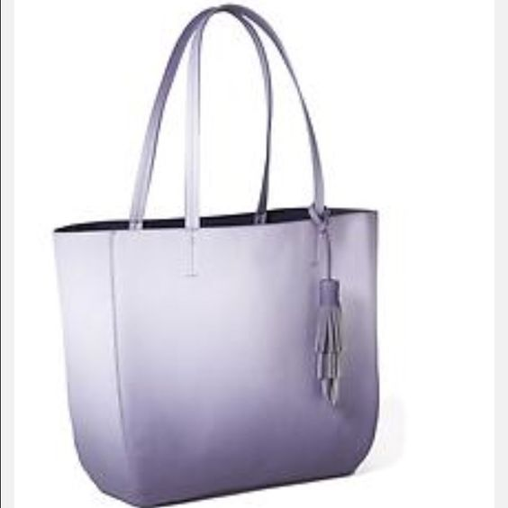 NWT Purple ombré tote New with tags! A great bag for spring and summer! Purple/ periwinkle ombré tote. Fits a laptop! First photo from website Old Navy Bags Totes