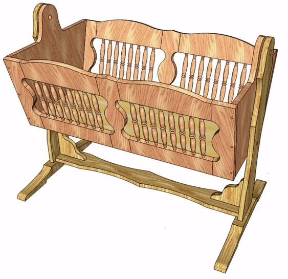 Wood Baby Cradle Plans Free Workshop Projects And Plans | Woodworking ...