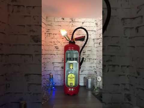 Extincteur Lampe Mini Bar Youtube In 2020 Mini Bar Fire Extinguisher Bar
