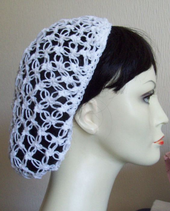 Crochet Patterns Free Snood : CROCHET SNOOD, HAIRNET. totally need this for work ...