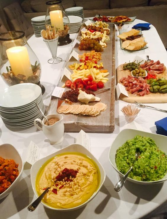 Charcuterie & Cheese Board with a trio spread