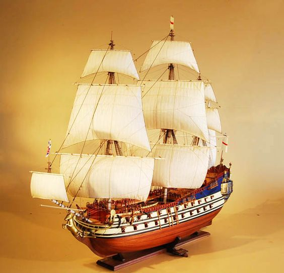 HMS Unicorn Model Ship Port Bow