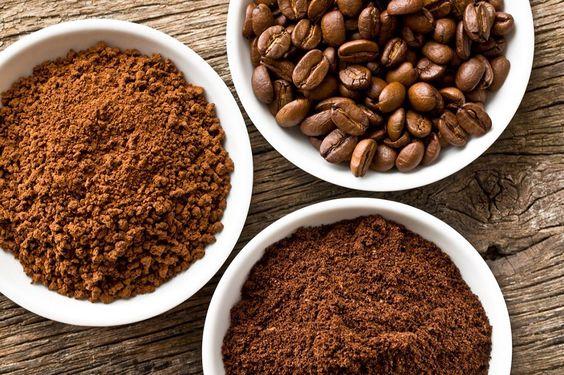 Đường nâu và bã cafe