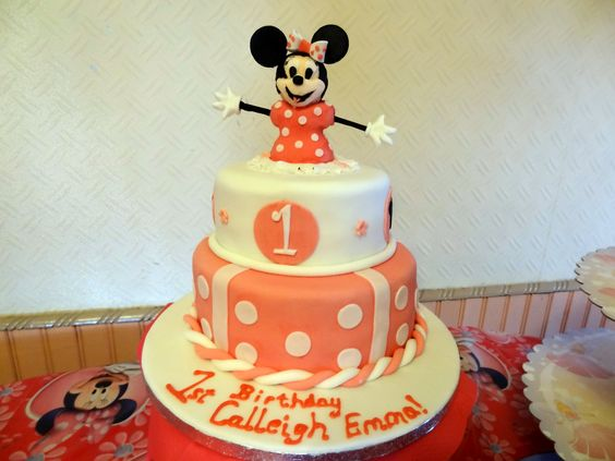 Minnie Mouse Cake for First Birthday