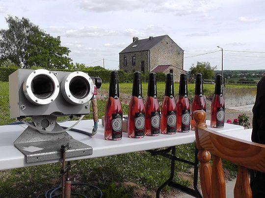 La Rosée d'Audrey, habillage du vin rosé mousseux du Domaine du Ry d'Argent - Jean-François BAELE, Viticulteur - Concours La Vitrine de l'Artisan 2012