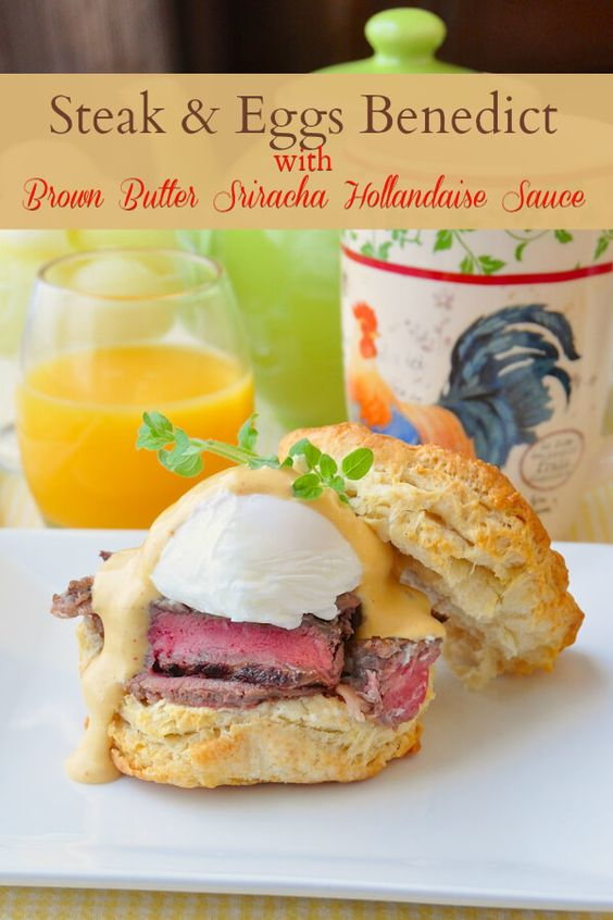 Steak and eggs, Hollandaise sauce and Egg benedict on Pinterest