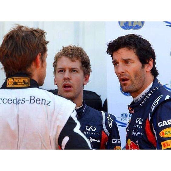 Wonder what jenson told Seb and mark 😂😂 #sebastianvettel #vettel #seb5…