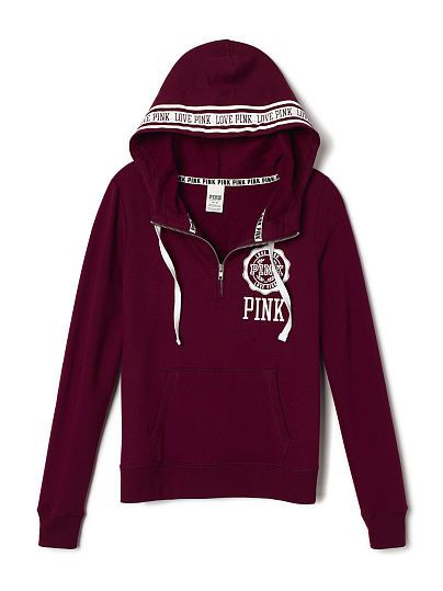 Perfect Half-Zip Hoodie - PINK - Victoria's Secret XS | My Style ...