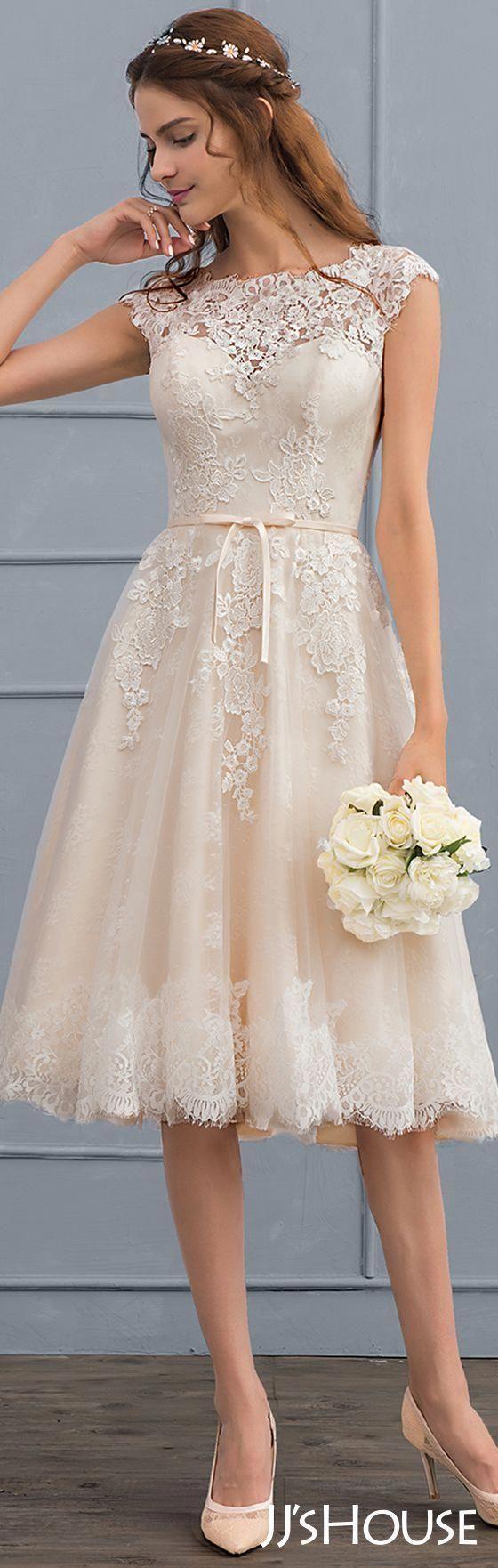Jjshouse Wedding Simplelaceweddingdressesshort Short Lace Wedding Dress Wedding Dress Patterns Diy Wedding Dress [ 1762 x 560 Pixel ]