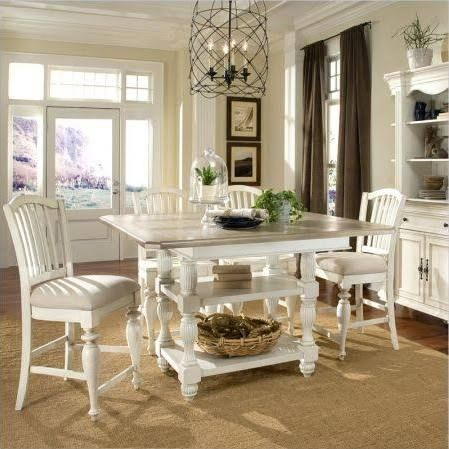 white square counter height table sets - Google Search