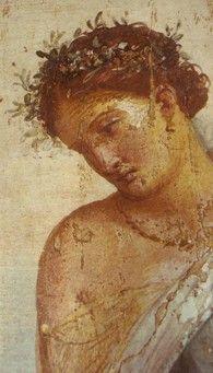 Detalle fresco de Pompeya (Villa imperial):