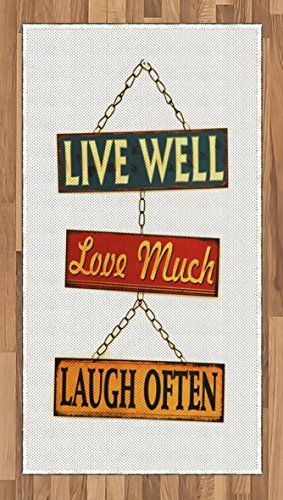 Live Laugh Love Area Rug By Ambesonne Live Well Love Much Laugh