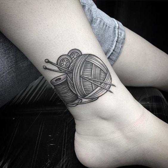 Knitting Tattoo by Lu Loram-Martin