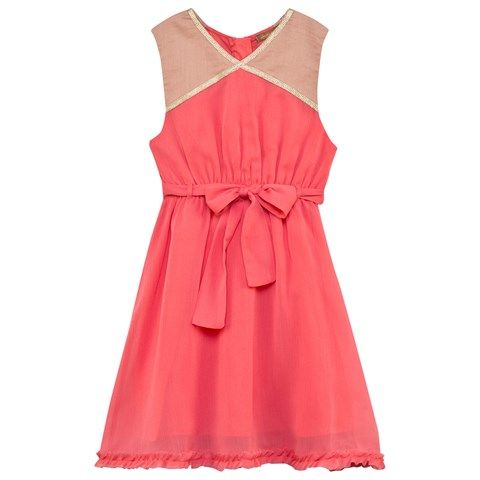 ilovegorgeous Coral Belted Dress