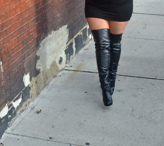 These wide-calf wide-thigh conscious over-the-knee boots are TO