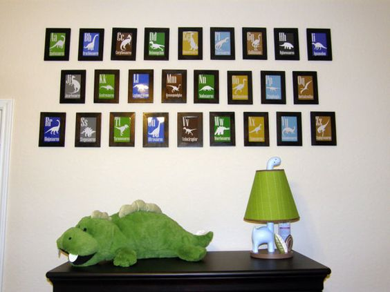 dinosaur nursery - though I doubt Chase would hang that many things on the wall