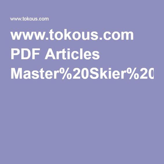 www.tokous.com PDF Articles Master%20Skier%20MagazineMastering%20Waxing%20Technique1-3-02.pdf