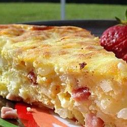 Rise and Shine! Try this yummy oven omelette! #breakfast