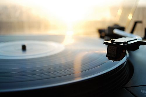 how we played music - vinyl records .... usually had to put a penny/washer on the needle of ours :  :p
