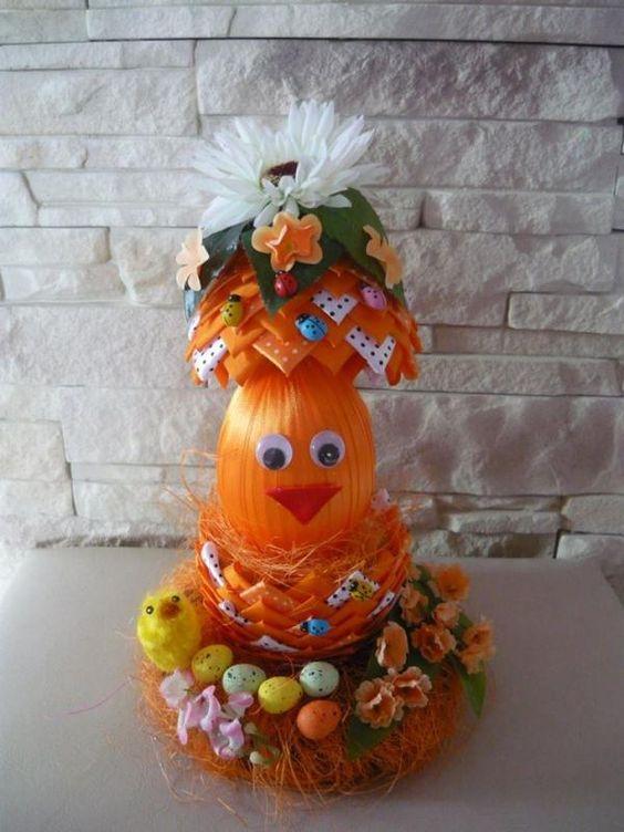Velkonočne vajička - oranžové vajičko