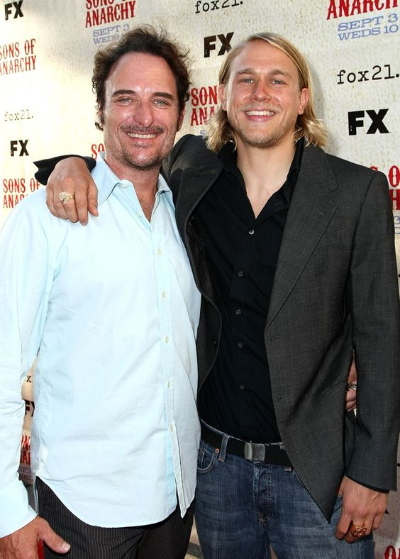 Pin for Later: There's Always Been a Lot of Love For Charlie Hunnam in Hollywood  Sons of Anarchy's Kim Coates was all smiles alongside Charlie at the show's series premiere in LA back in 2008.