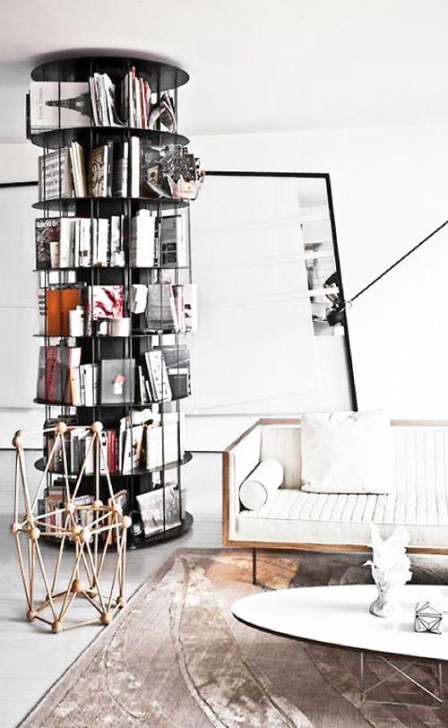 circular bookshelf: