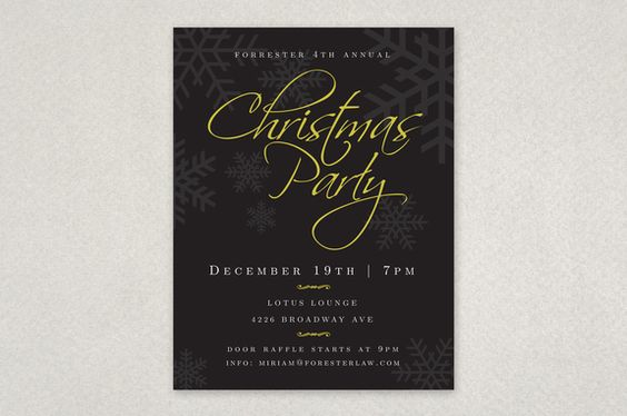 Classic Holiday Party Flyer Template u2014 This elegant flyer design - holiday party flyer template