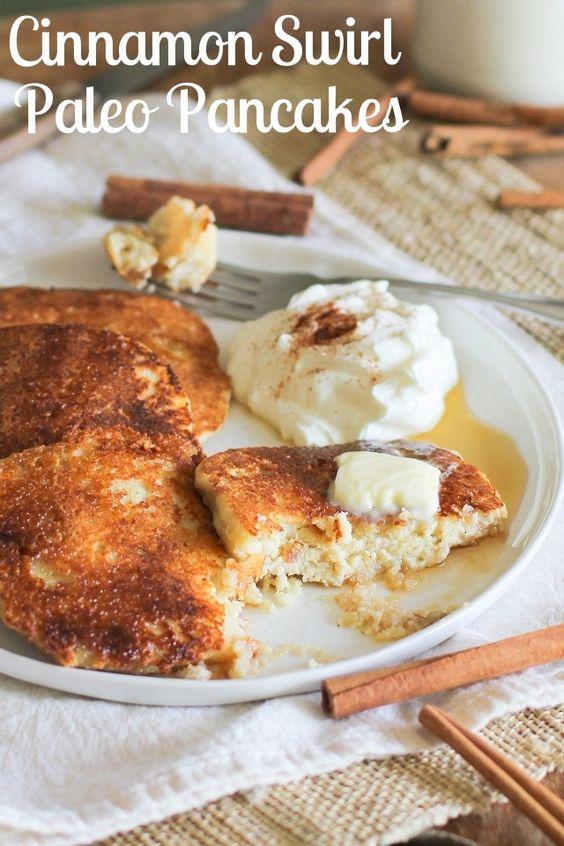 ... Cinnamon Swirl Paleo Pancakes | Recipe | Almonds, Coconut and Coconut