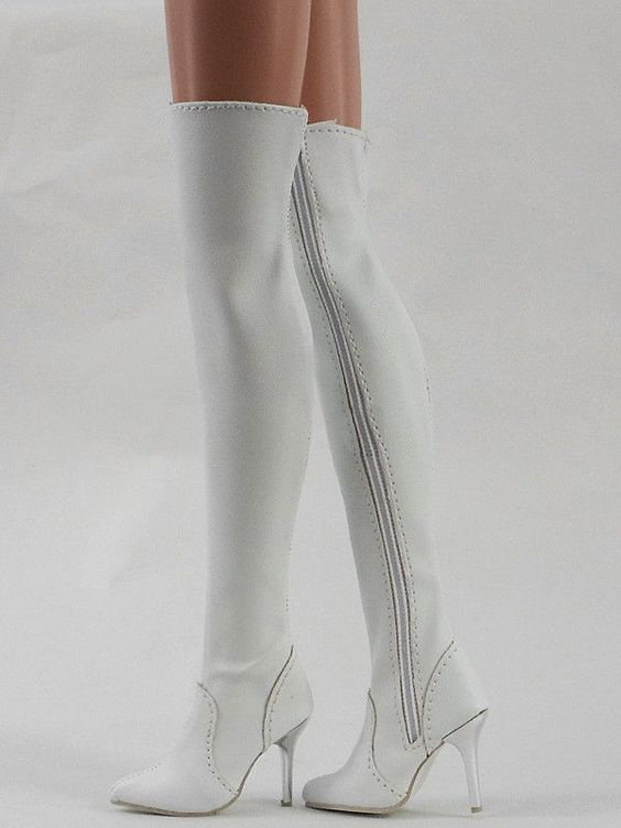 "Fashion White Shoes/Boots Ellowyne Wilde/Antoinette 16"" Tonner Doll(8-EB-2"