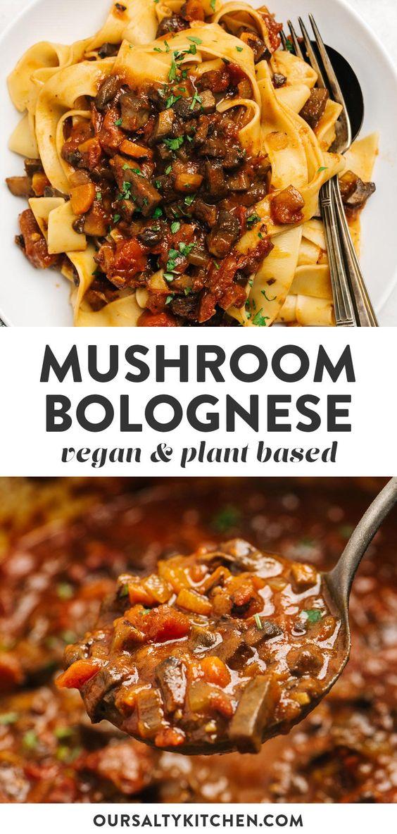 Meatless Monday Mushroom Bolognese