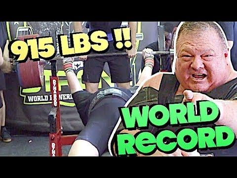Utr Special Feature 915 Lbs Bench Press 59 Year Old Former Nfl Ncaa Strength Coach Bill Gillespie Sets World Re Bench Press World Records Special Features