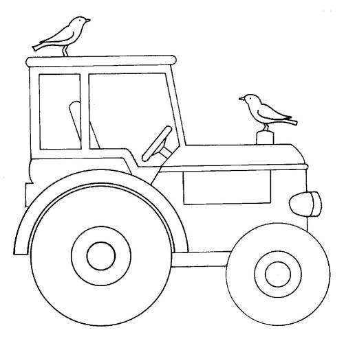 Ausmalbilder Traktor Und Vogel White Printable Color Artwork Illustration Ausmalbilder Traktor Ausmalbilder Ausmalen