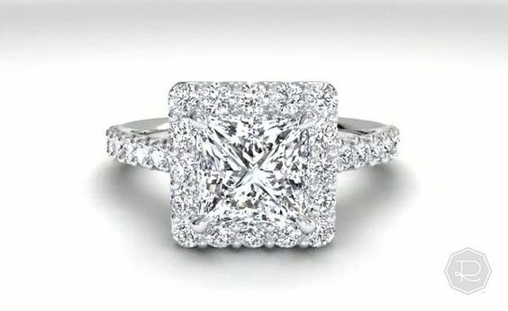 Halo French-Set Diamond Band Engagement Ring - in Palladium (0.45 CTW) | Ritani DREAM RING