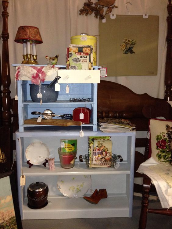 New inventory in booth 18, Judge Beal Antiques at Salvage Sisters in Franklin, Indiana.