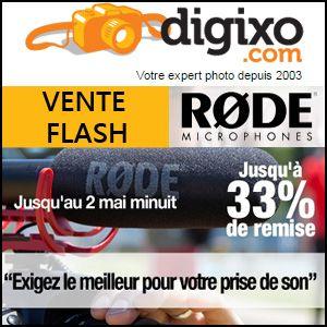 #missbonreduction; Vente flash: jusqu'à 33% de réduction sur RODE microphones chez Digixo. http://www.miss-bon-reduction.fr//details-bon-reduction-Digixo-i100-c1829637.html