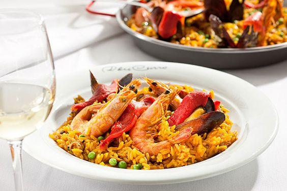Paella, o prato mais tradicional do restaurante espanhol Don Curro, que agora conta com menu espresso (Foto: Divulgação)