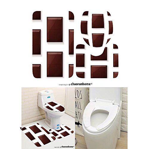 Chaoranhome Pattern Bath Mat Set 3 Piece Bathroom Mats Seamless