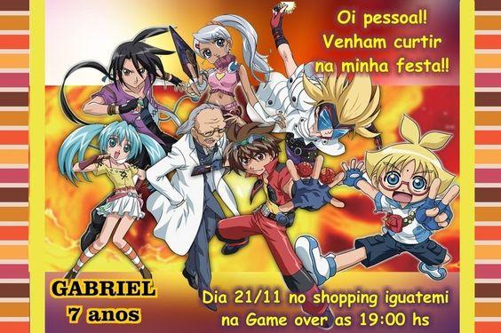 Convite digital personalizado Bakugan 005