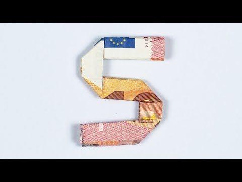 Geld Falten Alphabet Buchstabe S Geldgeschenk Idee Youtube Geld Falten Buchstaben Geld Falten Anleitung Geld Falten