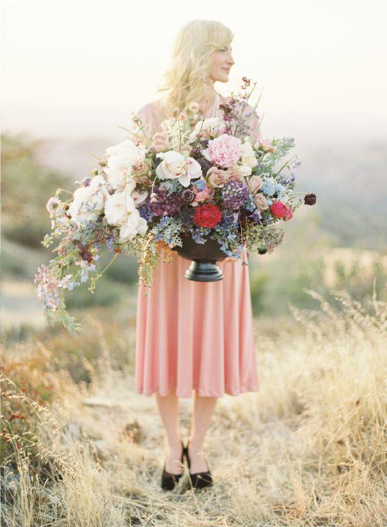 Event Design, Jose Villa, European Wedding Inspiration, Pastel Wedding  Oversized flower arrangement