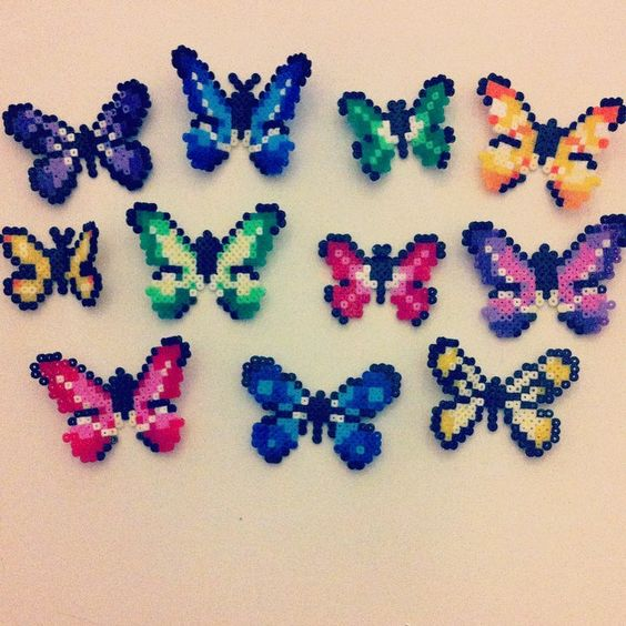crafts minis and butterflies on