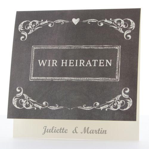Moderne Hochzeitseinladungen im Stil der 30er Jahre - Hochzeitskarten Nr. 724033