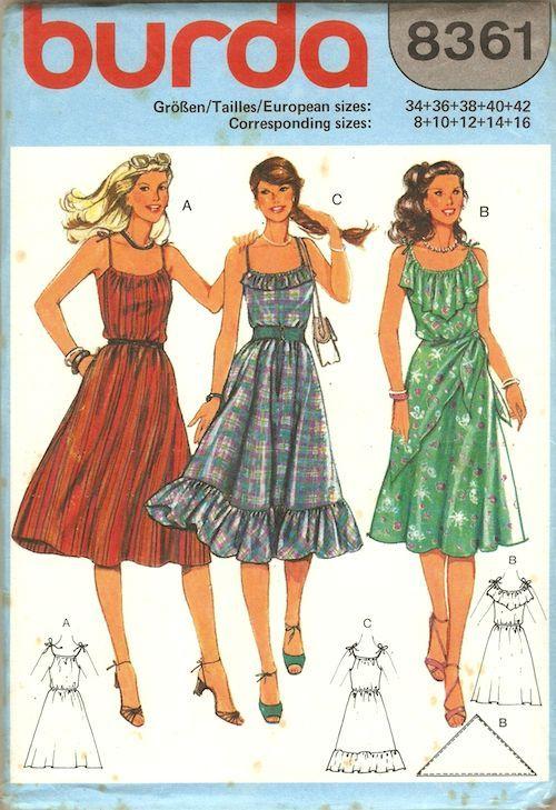 Burda 8361 Vintage Outfits Vintage Clothes Patterns Vintage Sewing Patterns