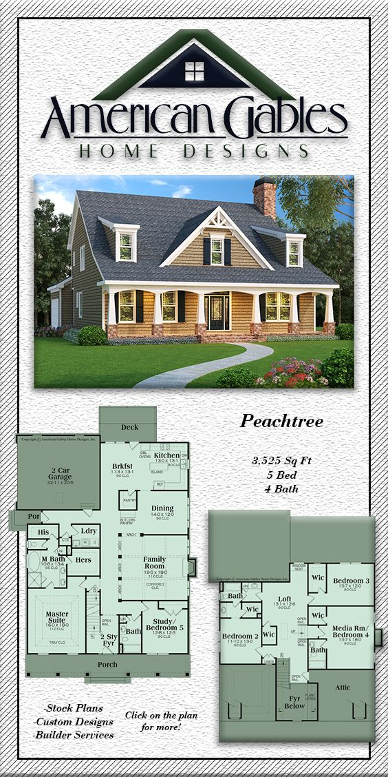 Southern Plan 3525 Square Feet 5 Bedrooms 4 Bathrooms Peachtree House Blueprints Southern House Plan Country Cottage Decor