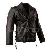 Brando Classic Motorcycle Jacket with Armour & Vents