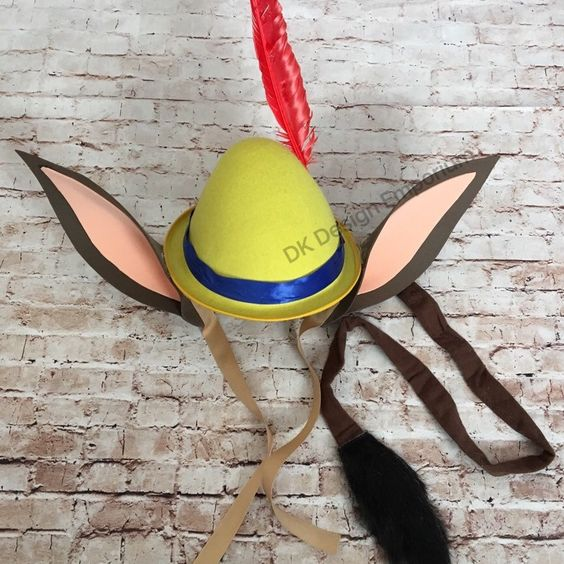 pinocchio hat template - pleasure island inspired hat tail set pinocchio