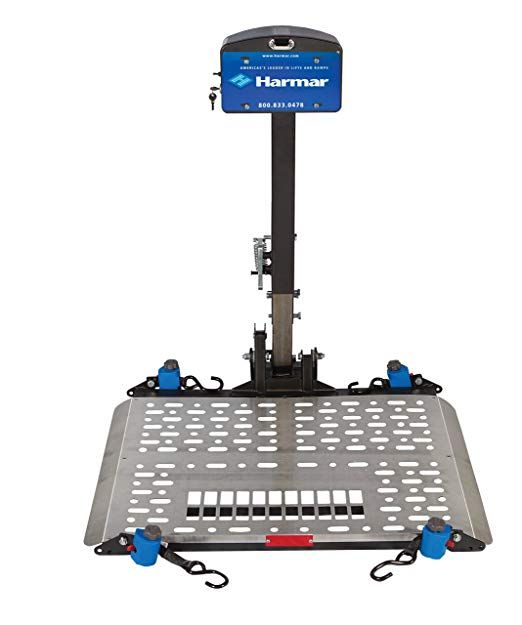 Harmar Mobility Upgraded Al500 Power Wheelchair Lift Outside Fully Automatic Carrier With Ii Iii Hitch Adapter Powered Wheelchair Aluminum Decking Chair Lift
